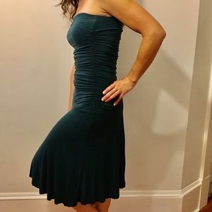 Express Dresses - Express turquoise strapless dress
